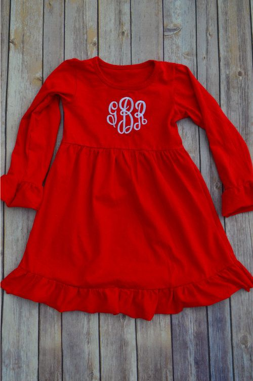 Monogrammed Ruffle Dress by MaxJBoutique on Etsy