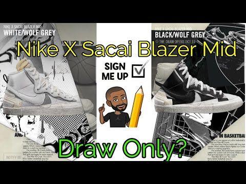 Nike X Sacai Blazer Mid Black/White