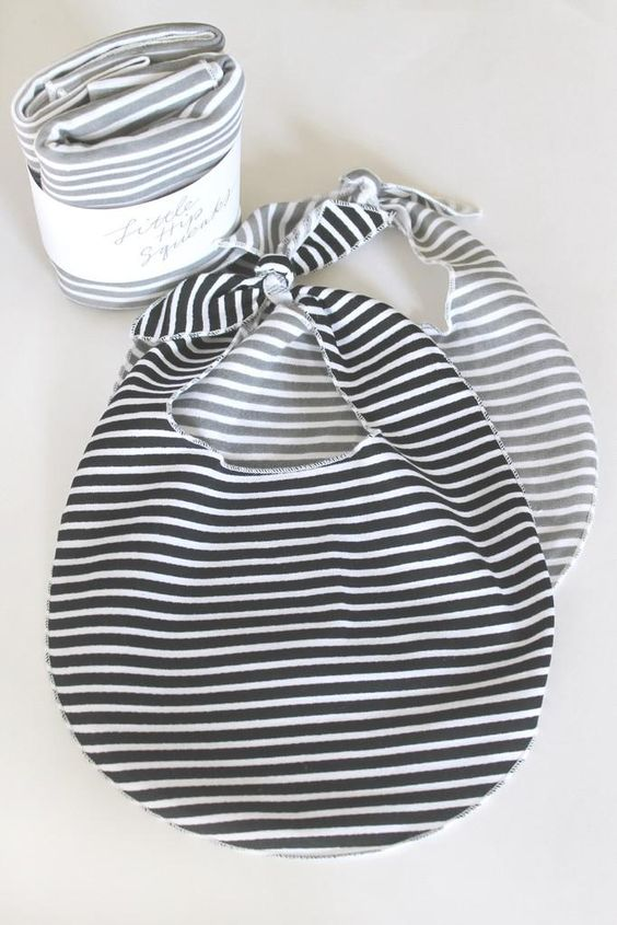 simple stripey bibs.