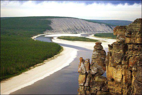 Река Лена.Якутия.Россия