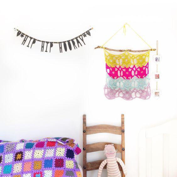 crochet a wall hanging   Patrón gratis, Tapices y Blog