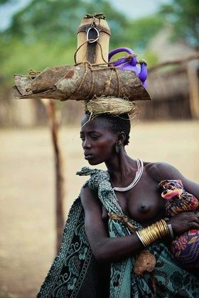 A Bodi woman - Salamago District, Omo Valley. Ethiopia. By Ingetie Tadros::