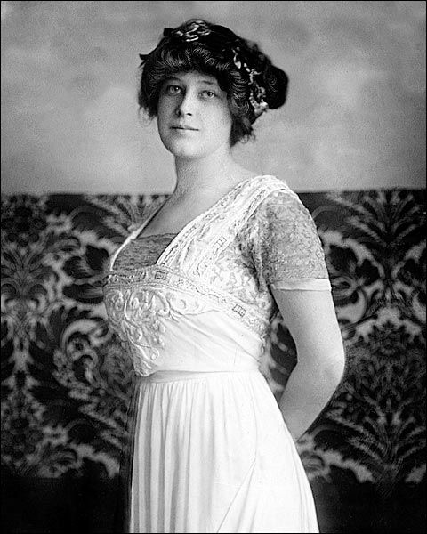 Mrs. John Jacob Astor IV, the former Madeleine Talmadge Force, who survived the sinking of the Titanic while John Jacob Astor IV perished.
