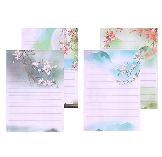 IMagicoo 48 Vintage Retro Writing Stationery Paper Pad Letter Set Style-1
