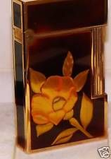 S.T.Dupont  maki-e CHINESE  LACQUER  GOLD LEAF LIGHTER rare collectible