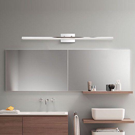 Mirrea 48in Modern Led Vanity Light For Bathroom Lighting Dimmable 46w Warm White Vanity Lighting Led Vanity Led Vanity Lights