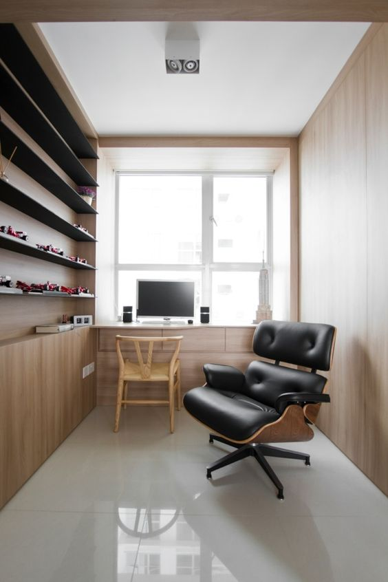 bespoke study table with storage and full height wall display shelving bespoke wall storage