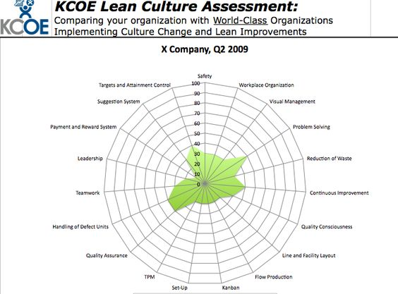 Lean Culture Assessment The spider diagram Lean \ 5S Workplace - spider diagram template