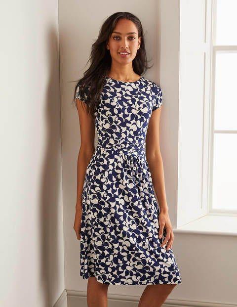 Amelie Jersey Dress Navy Bazaar In 2020 Jersey Dress Dresses Womens Dresses