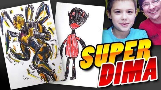 Рисуем Супергероев: Человека Муравья и Человека Шершня, Супер Дима