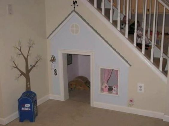 Great idea for under the staires; not a closet but a great play house!