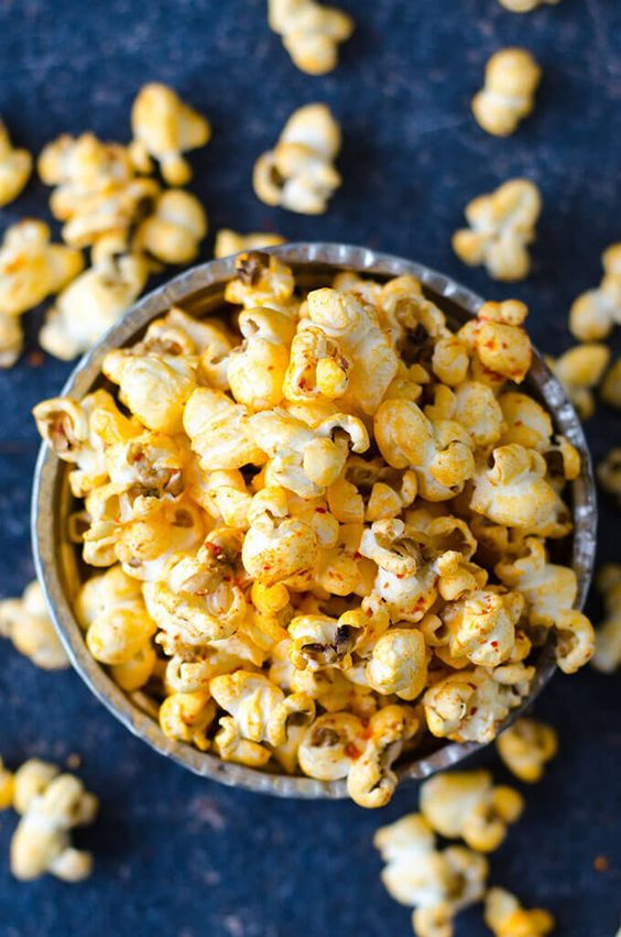 Kick snack time up a couple of notches with this Salty Spicy Popcorn that will delight your taste buds and make you the envy of the office!