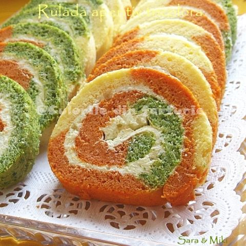 The colors on your plate: Savoury Tricoloured Cream Cheese Roll ...