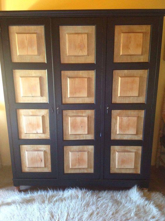 Cómo convertir un armario rustico en un armario estilo industrial