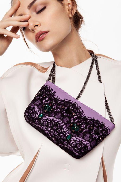 """Купить """"Teatro La Fenice"""", вечерняя сумочка, вышивка бисером. - сиреневый, абстрактный, вечерняя сумочка"""