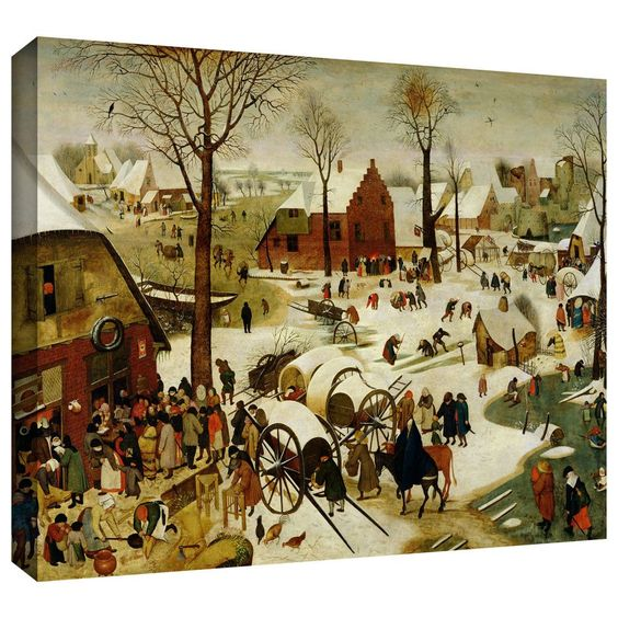 'The Census at Bethlehem' by Pieter Bruegel Gallery Wrapped on Canvas