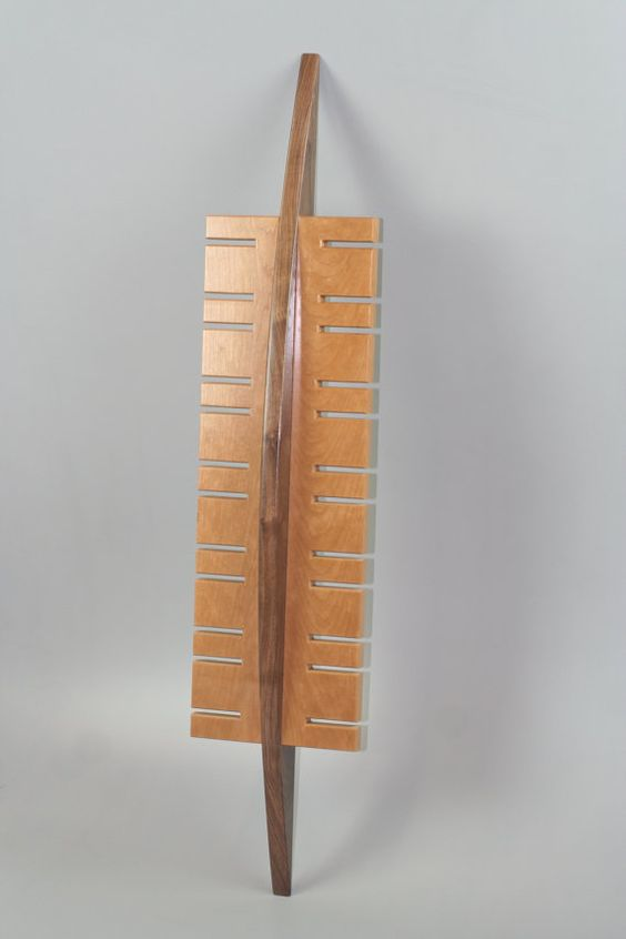 Handmade surf inspired watch display rack in solid by