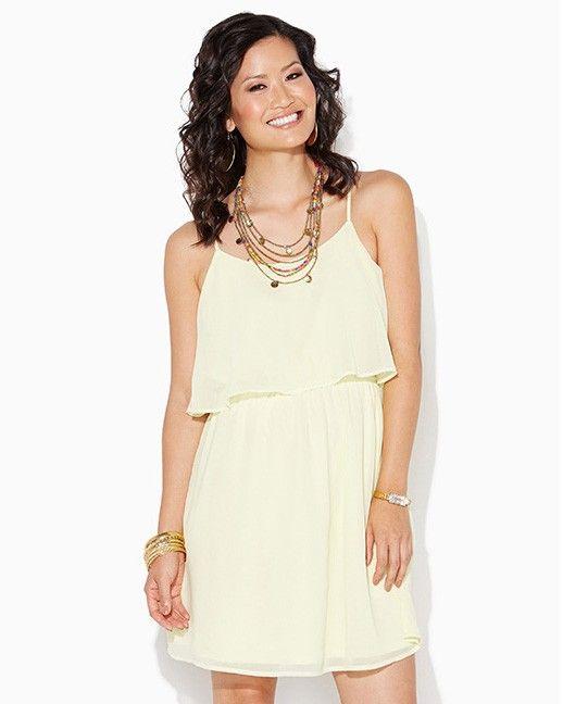 charming charlie   Short & Sweet Ruffle Dress   UPC: 410006567689 #charmingcharlie