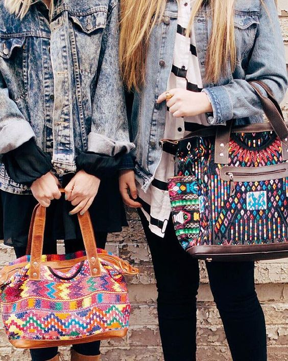 Stylish with Nena and Co. bags. A Sonia Carryall on the left, a Day Bag ll on the right.