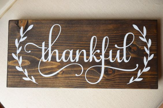 Thankful sign Thanksgiving sign thankful wood by SweetElodieGrace: