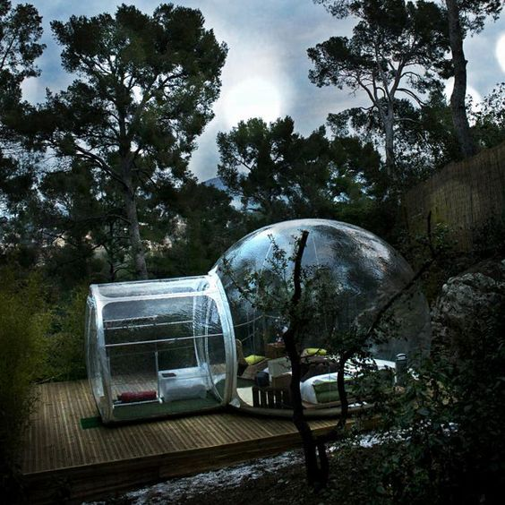 Cristal Bubble Hut by BubbleTree.