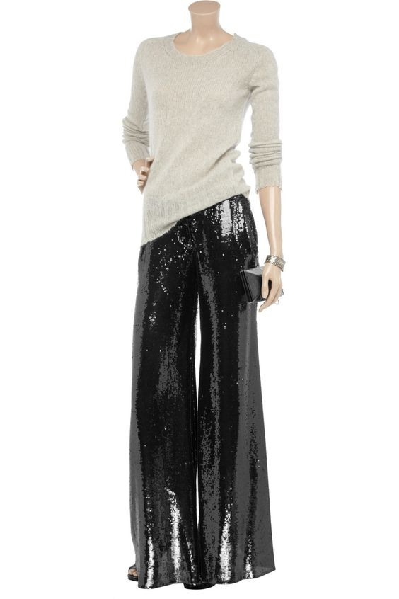Balmain, Sequin pants and Pants on Pinterest
