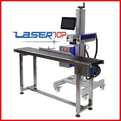 Máy khắc laser Fiber tích hợp băng tải