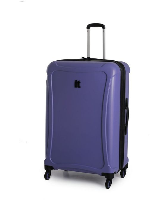 Buy IT Luggage Duralition 4 Wheel Hard Shell Suitcase M - Blue at ...