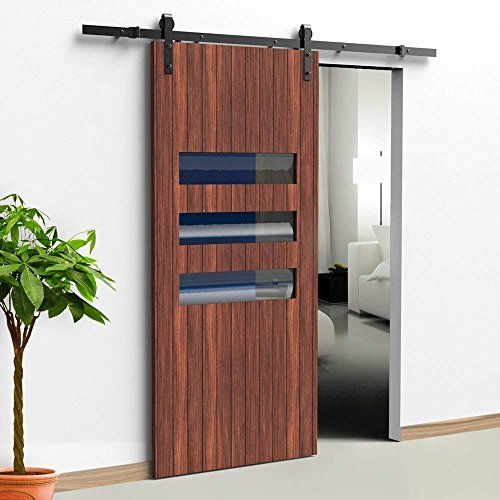 12 Ft Heavy Duty Sliding Barn Door Hardware For Wide Opening And Two Openings 12ft Single Door Kit In 2020 Sliding Barn Door Hardware Barn Door Kit Sliding Barn Door