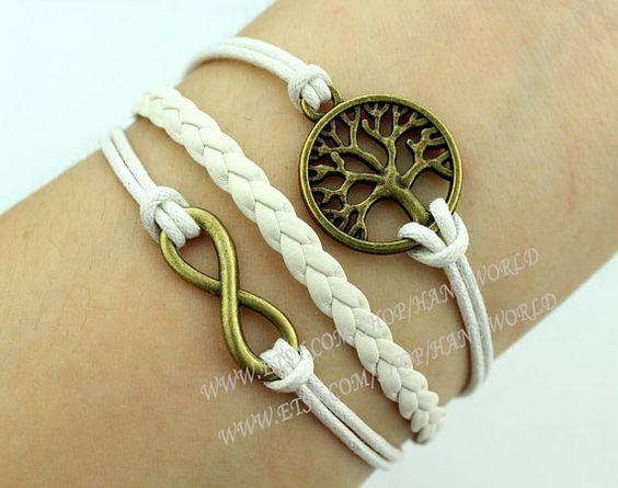 Bronze Wishing Tree Bracelet Infinity Karma Bracelet by handworld, $3.29