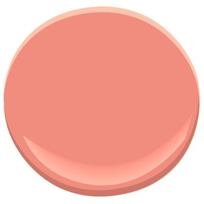 """Benjamin Moore 012 Coral Reef—""""It makes everybody look sun-kissed,"""" he says. """"It's a warm color, which instantly makes one smile.  Read more: Interior Designers Favorite Paint Colors - ELLE DECOR Follow us: @ELLE DECOR on Twitter 