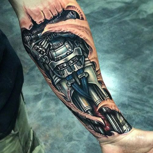 Badass Half Sleeve Tattoo Biomechanical Design Halfsleevetattoos Biomechanical Tattoo Biomechanical Tattoo Design Tattoos For Guys Badass