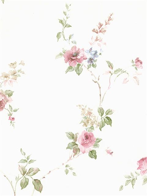 Cn24621 Wallpaper Pink Small Floral Vine Wallpaper