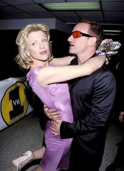 Courtney Love and Bono