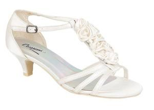 LADIES WHITE KITTEN HEEL SATIN STRAPPY EVENING/PARTY/WEDDING ...