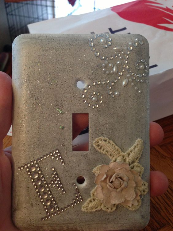 DIY light switch plate Baby Pinterest