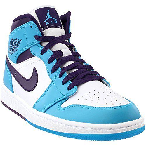 Jordan: Retro 1 Mid Mens White/Blue Sneaker (12 D(M) US Men) Clout ...
