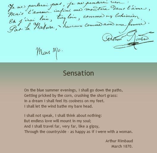 Sensation  Arthur Rimbaud