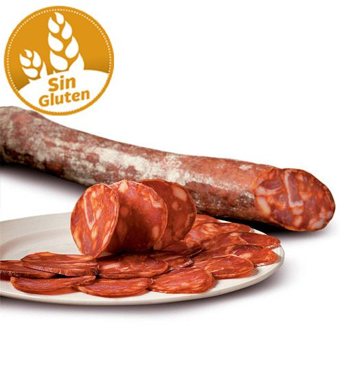 Chorizo Extra Producción Ecológica sin gluten y sin lactosa (vacío 100 gr.) #chorizo #sinlactosa #sin gluten