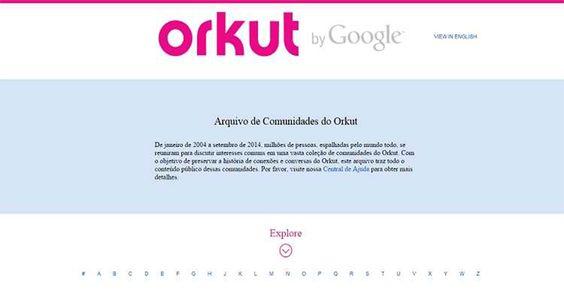 O Orkut, rede social que teve mais de 29 milhões de usuários no Brasil, foi encerrado no dia 29 de setembro de 2014. Agora, o Google libera acervo completo de comunidades do Orkut.  Ainda não rec...