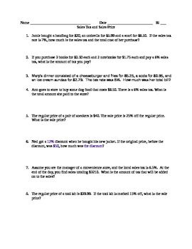 Printables Sales Tax Worksheet world sales tax and words on pinterest this is a quick worksheet of real examples price