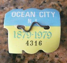 RARE 1979 OCEAN CITY NJ SEASONAL BEACH TAG