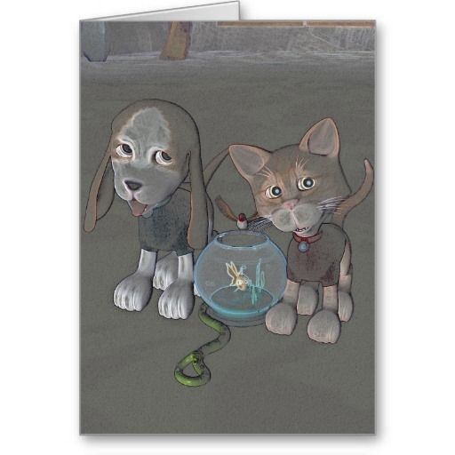 Pets Illustration Notecard