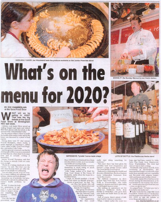 A newspaper article about one of my appearances at the BBC Good Food Show.  I'm in the top right of the page.  #bbc #goodfoodshow #nec #sundaymercury  #chefkevinashton #performing