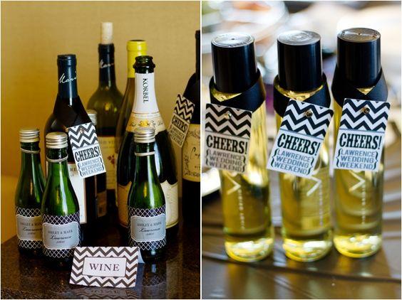 Mini wine bottle wedding favors Brigetta & Henry say I Do ...