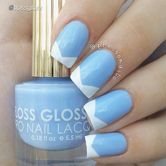 Nail DIY idea. by @flossgloss  #nailideas #nail #nailart #nailpolish #nailhowto #nailtutorial #nailartdesign #pretty #tutorial #tutorials #instructions #instruction #nailswag #nailartjunkie #cool #polish #nailvideos #nailartvideos #nailsart #nailpictorial #nailarts #chevron #nailartwow #nailartaddict #tutoriales #diyfashion #diynails #manicure #stepbystep #pictorial