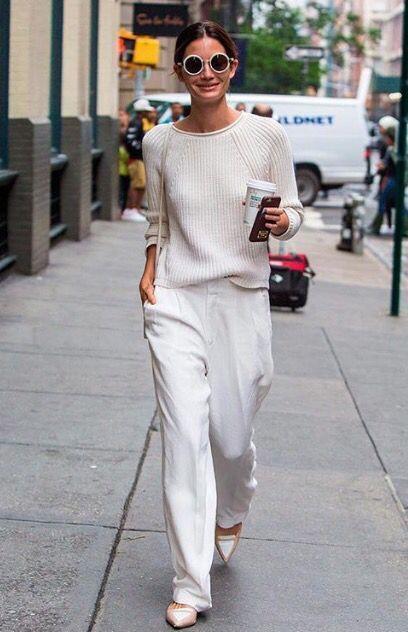 outfits casuales suéter de lino
