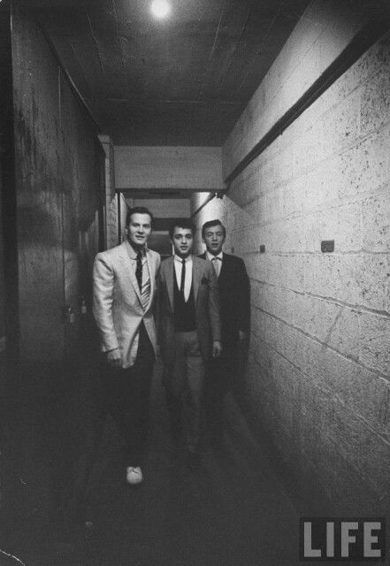 Pat Boone, Sal Mineo, and Bobby Darin