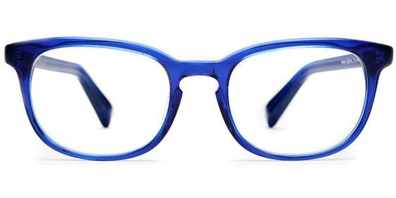 Walker in Canton Blue - Eyeglasses - Women | Warby Parker