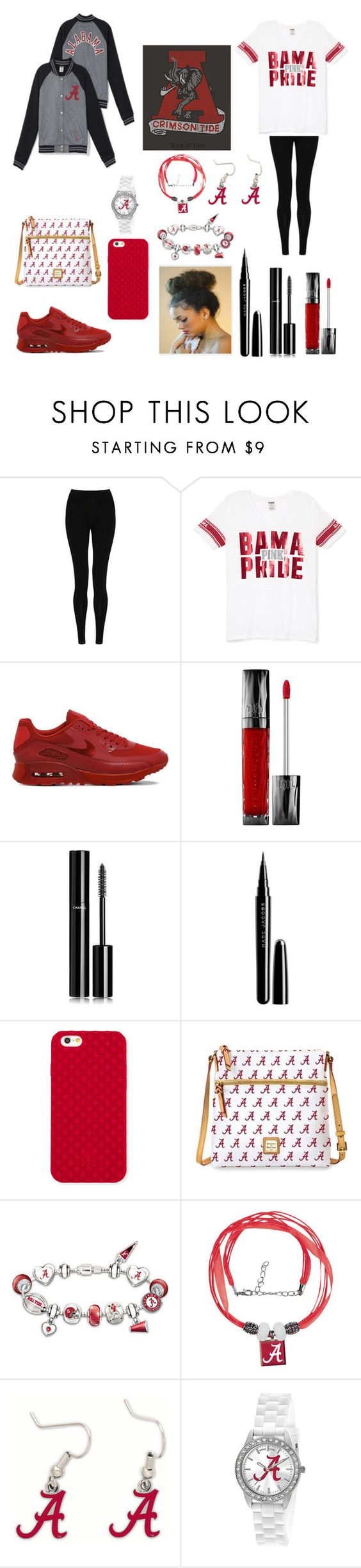 """ROOOLL TIDE!!!"" by tayllorliz-1 ❤ liked on Polyvore featuring M&S Collection, NIKE, Urban Decay, Chanel, Marc Jacobs, Tory Burch, Dooney & Bourke, The Bradford Exchange, WinCraft and Game Time"